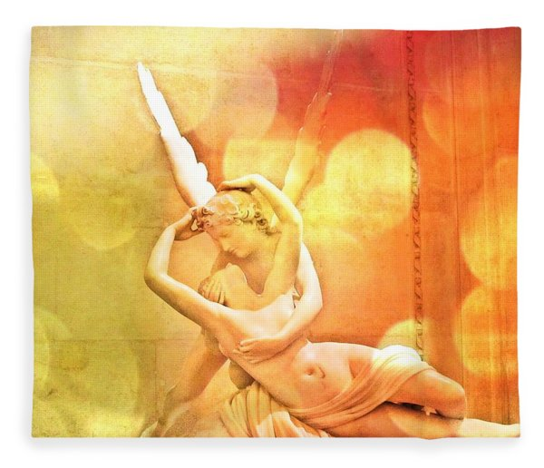 Psyche Revived By Cupid's Kiss Fleece Blanket