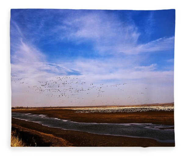 Snow Geese At Rest Fleece Blanket