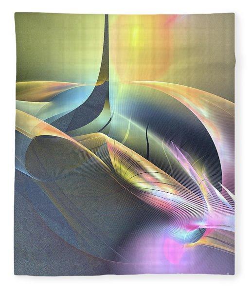 Fleece Blanket featuring the digital art Spiritus Nocturnus - Abstract Art by Sipo Liimatainen