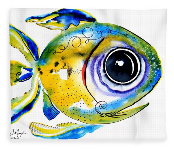 Stout Lookout Fish Fleece Blanket