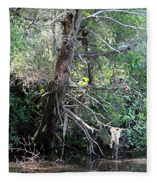 Swamp Tree Fleece Blanket