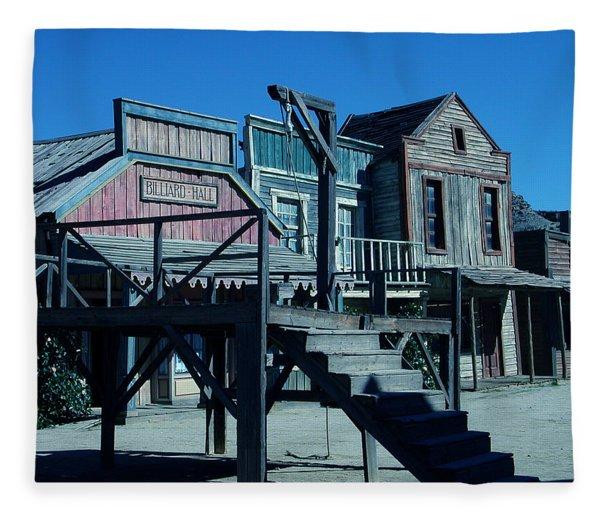 Fleece Blanket featuring the photograph Taverna Western Village In Spain by Colette V Hera  Guggenheim