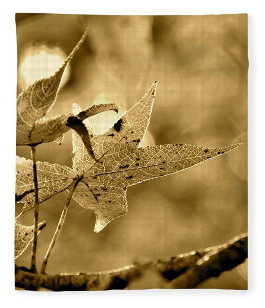 The Gum Leaf Fleece Blanket