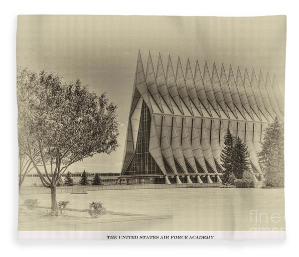 The United States Air Force Academy Chapel Fleece Blanket