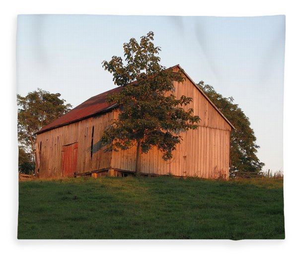 Tobacco Barn II In Color Fleece Blanket