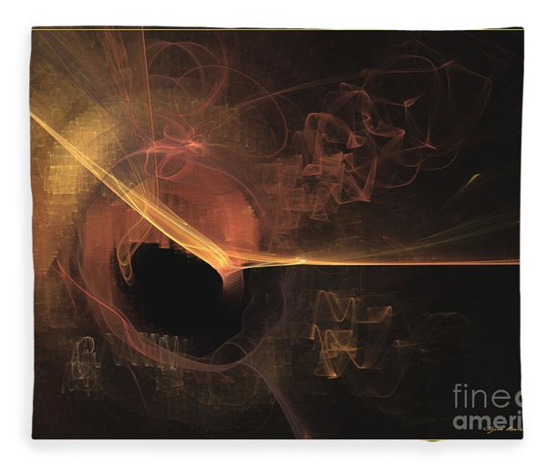 Fleece Blanket featuring the digital art Turning Point - Abstract Art by Sipo Liimatainen