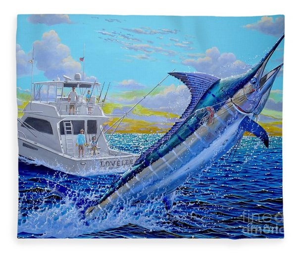 Viking Marlin Fleece Blanket
