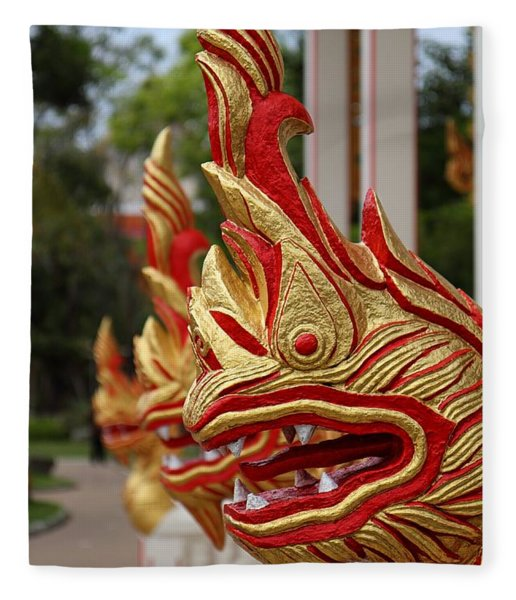 Wat Chalong 3 Fleece Blanket
