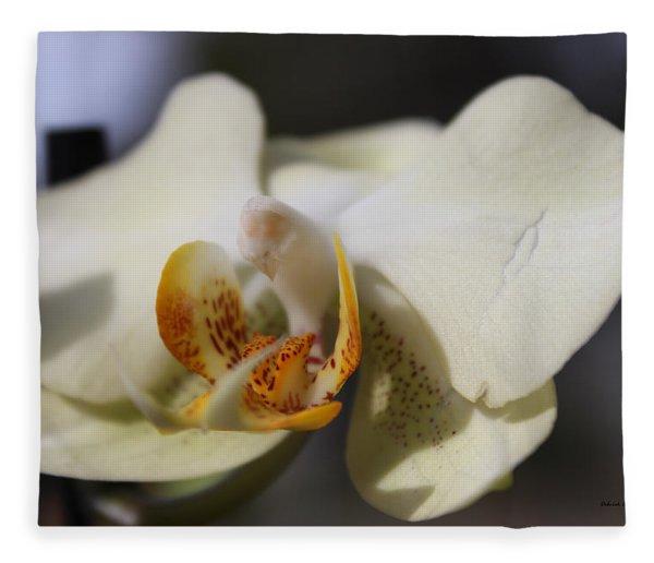 White Dove Orchid Fleece Blanket