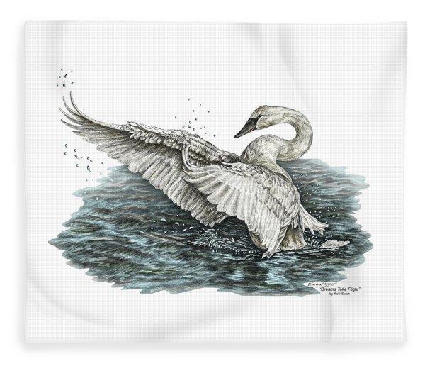 White Swan - Dreams Take Flight-tinted Fleece Blanket