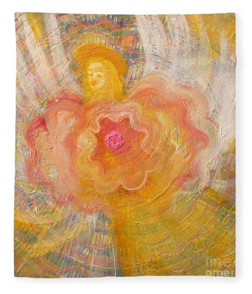 Flower Angel Fleece Blanket