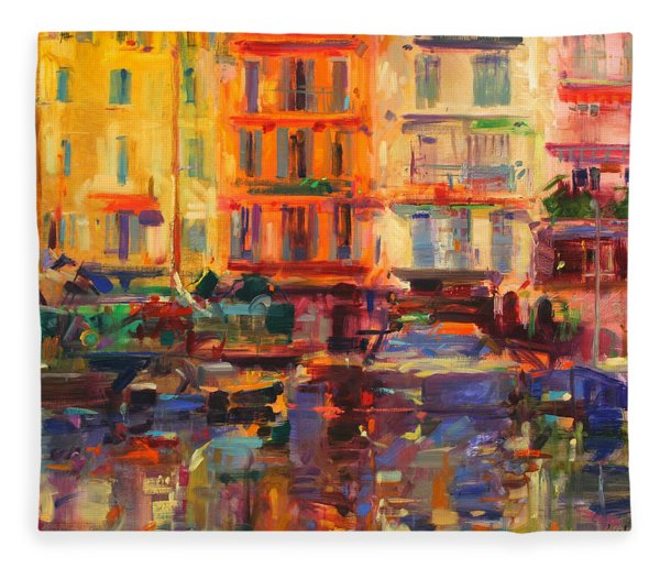 Grand Harbour  Cannes Fleece Blanket