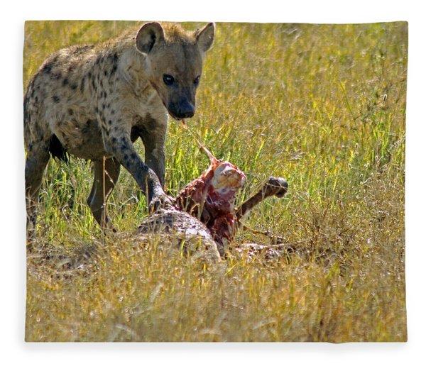 Hyena With Kill Fleece Blanket