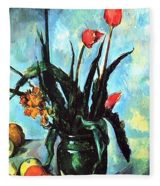 Tulips In A Vase Fleece Blanket