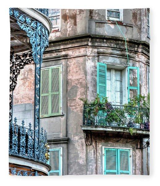 0254 French Quarter 10 - New Orleans Fleece Blanket