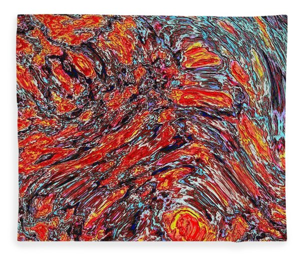 Fleece Blanket featuring the digital art 032115 by Matt Lindley
