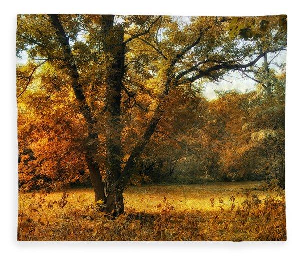 Autumn Arises Fleece Blanket