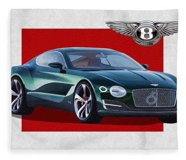 Bentley E X P  10 Speed 6 With  3 D  Badge  Fleece Blanket