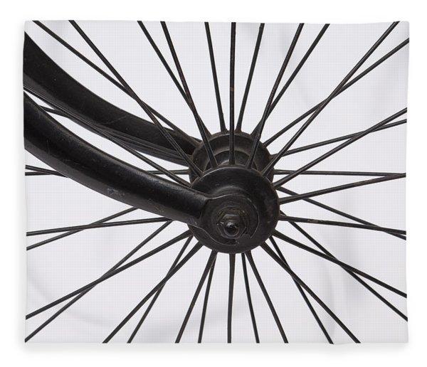 Bicycle Wheel Fleece Blanket