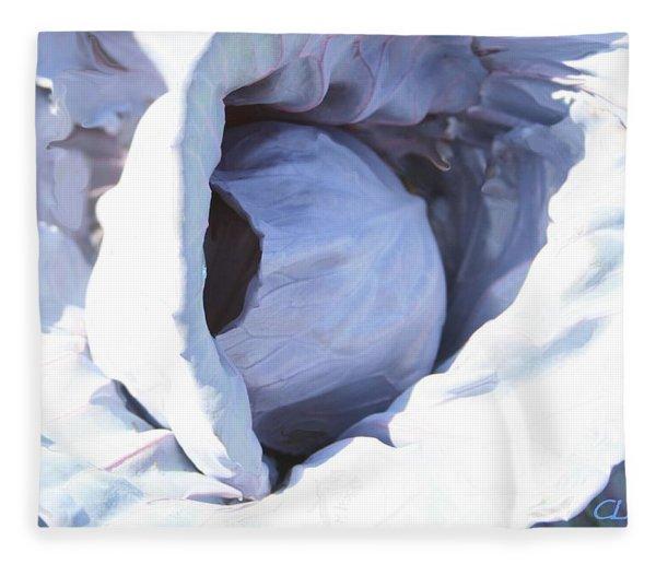 Blue Cabbage Fleece Blanket