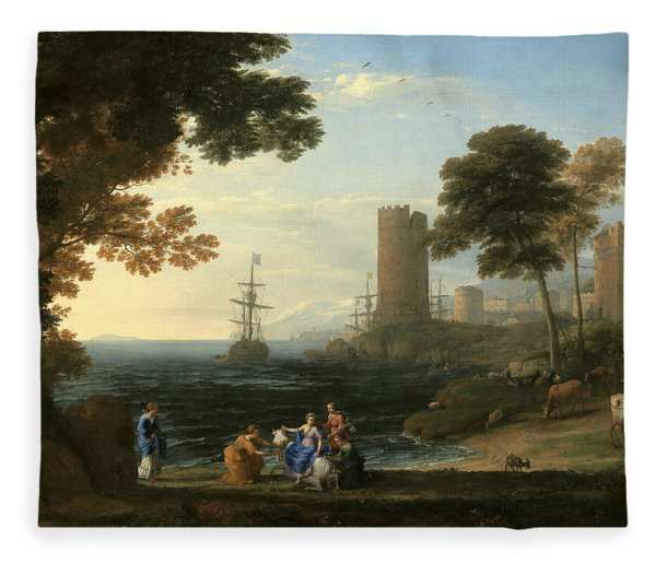 Coast View With The Abduction Of Europa Fleece Blanket