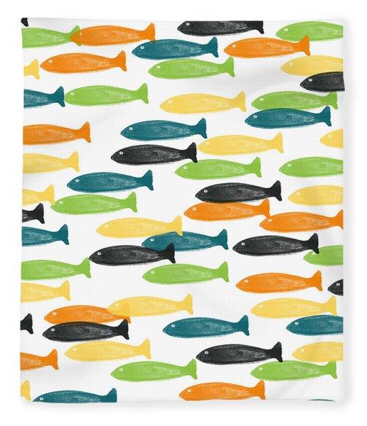 Colorful Fish  Fleece Blanket
