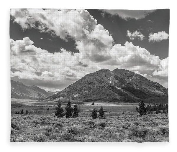 Copper Basin View Fleece Blanket