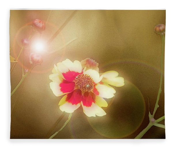 Coreopsis Flowers And Buds Fleece Blanket