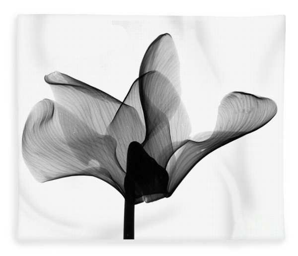Cyclamen Flower X-ray Fleece Blanket
