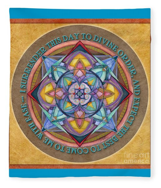 Divine Order Mandala Prayer Fleece Blanket
