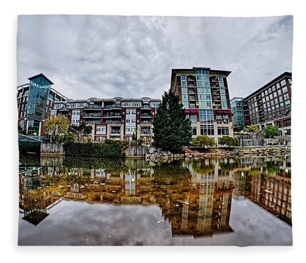 Fleece Blanket featuring the photograph Downtown Of Greenville South Carolina Around Falls Park by Alex Grichenko