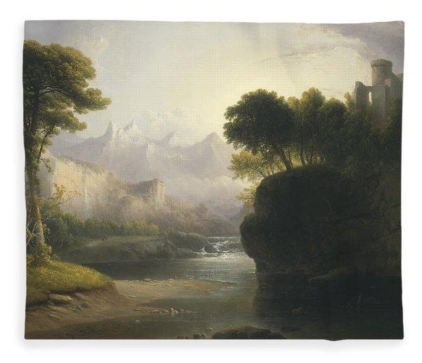 Fanciful Landscape Fleece Blanket