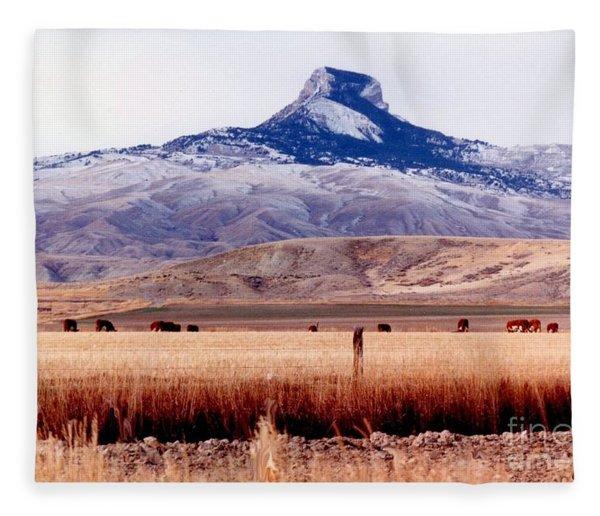 Hart Mountain - Cody,  Wyoming Fleece Blanket