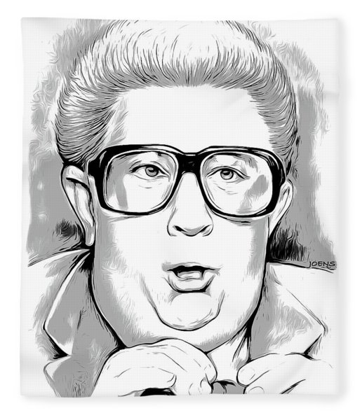 Jiminy Glick Fleece Blanket