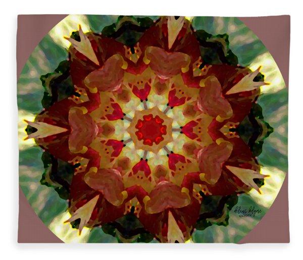 Kaleidoscope - Warm And Cool Colors Fleece Blanket