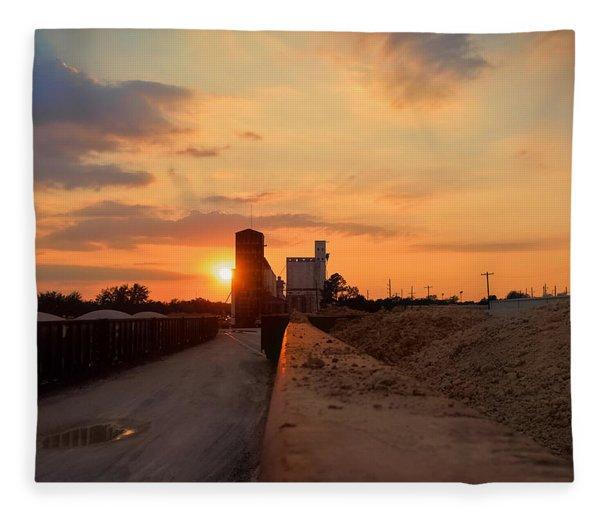 Katy Texas Sunset Fleece Blanket