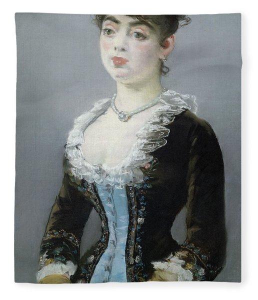 Madame Michel-levy Fleece Blanket