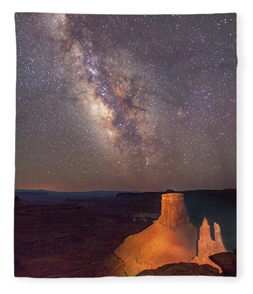 Milky Way At Marlboro Point Fleece Blanket