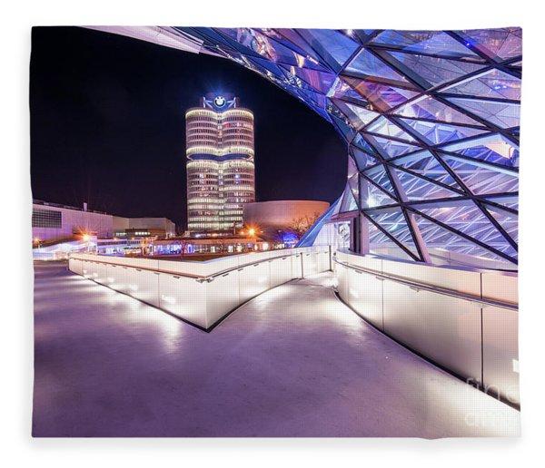Munich - Bmw Modern And Futuristic Fleece Blanket