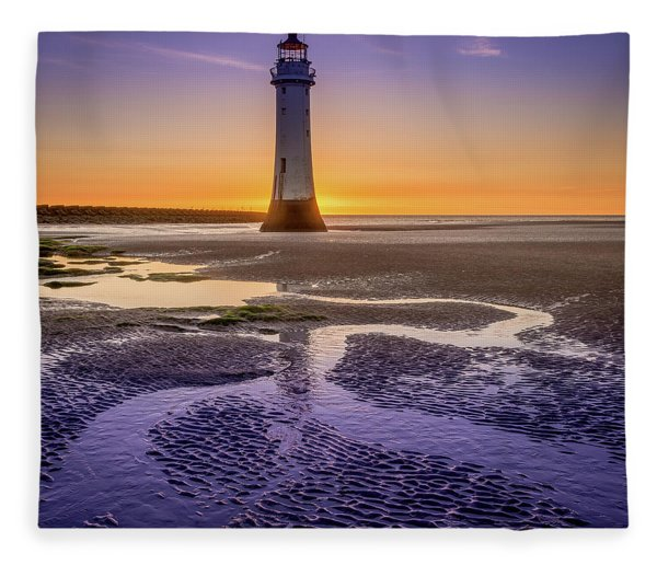 New Brighton Lighthouse Fleece Blanket