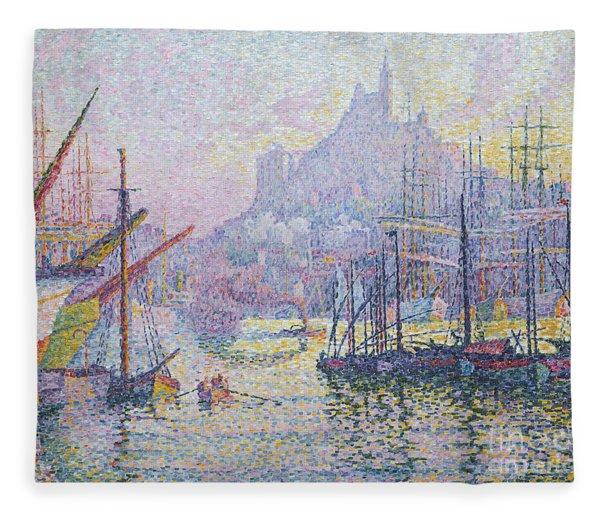 Notre Dame De La Garde, La Bonne Mere, Marseilles Fleece Blanket