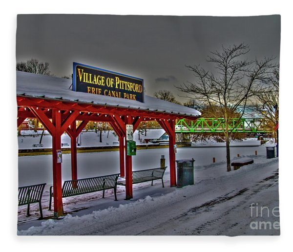 Pittsford Canal Park Fleece Blanket