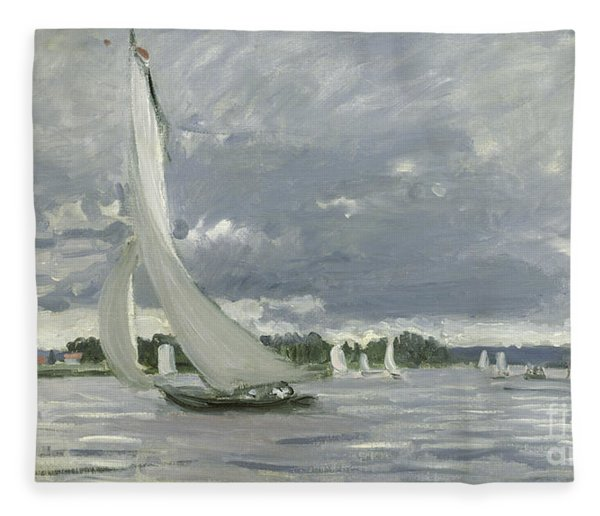 Regatta At Argenteuil Fleece Blanket