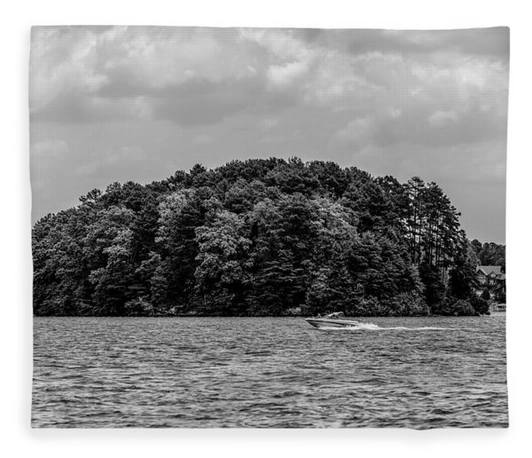 Fleece Blanket featuring the photograph Relaxing On Lake Keowee In South Carolina by Alex Grichenko