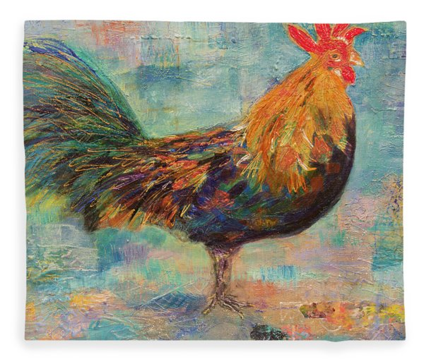 Regal Rooster Fleece Blanket