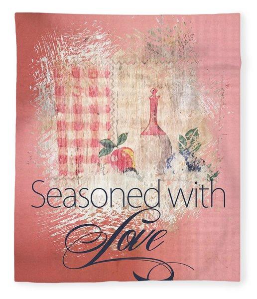 Seasoned With Love Fleece Blanket