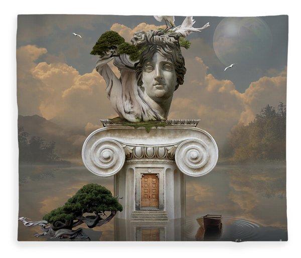 Secret Place Of Atlantis Fleece Blanket