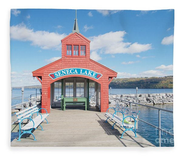 Seneca Lake Fleece Blanket