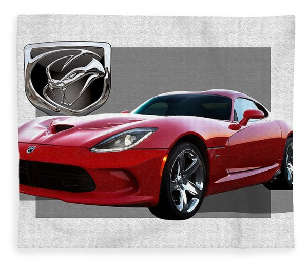 S R T  Viper With  3 D  Badge  Fleece Blanket