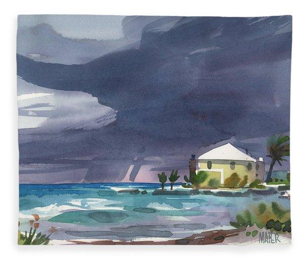 Storm Over Key West Fleece Blanket